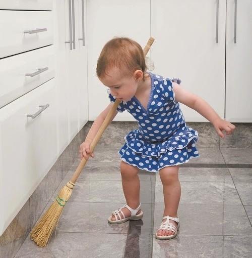Los niños y la limpieza