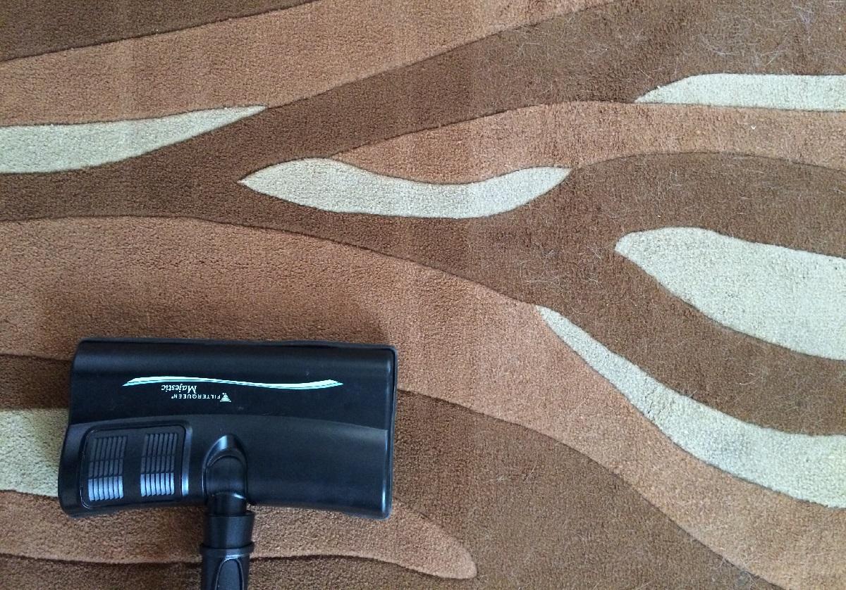 Limpieza en seco de alfombra con FilterQueen Majestic